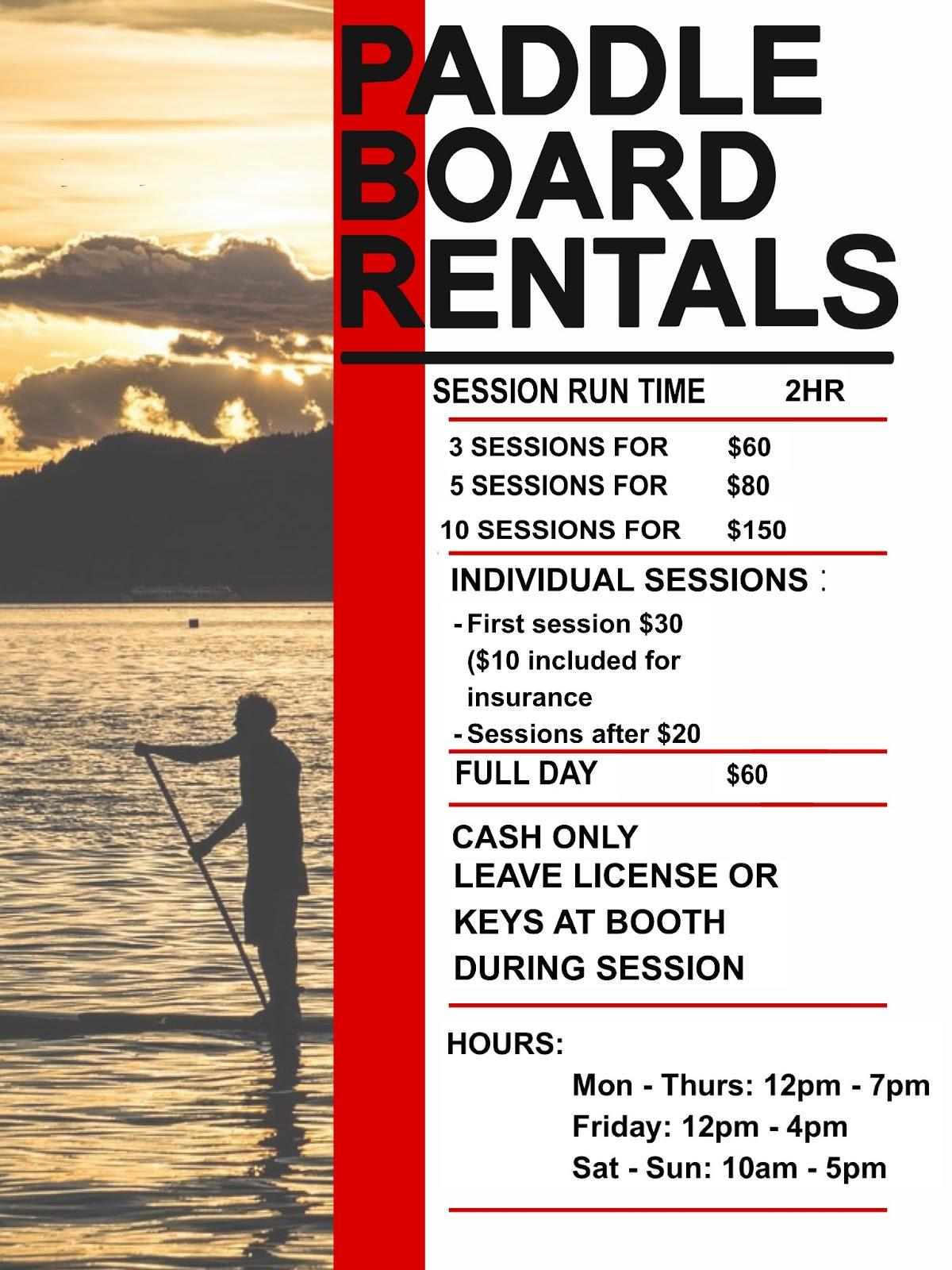 SRCC Paddle Board Rental Ad
